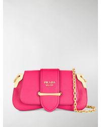 Prada Sidonie Cross Body Bag - Pink