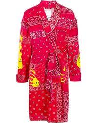 READYMADE Mantel mit Bindegürtel - Rot