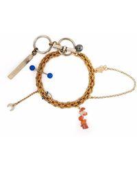 Marine Serre Psychotropic Charm-embellished Bracelet - Metallic