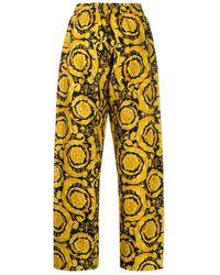 Versace Pyjama-Hose mit barockem Print - Gelb