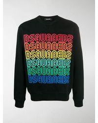DSquared² Rainbow Logo Sweatshirt - Black