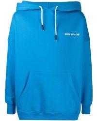 Honey Fucking Dijon Show Me Love Hooded Sweatshirt - Blue