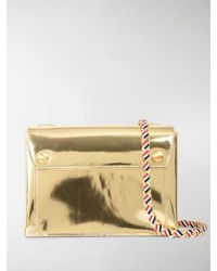 Thom Browne Specchio Leather Envelope Bag - Metallic