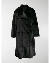 Tom Ford Panelled Double-breasted Coat - Black