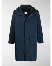 Aspesi Concealed Front Parka Coat - Blue