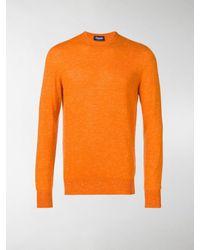 Drumohr Melange Knit Jumper - Orange