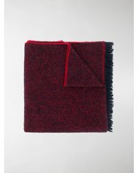 Destin Oversized Knitted Scarf - Red