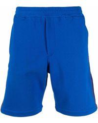 Alexander McQueen Side Logo-print Track Shorts - Blue