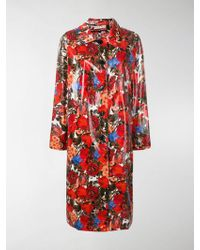 Marni - Coated Floral Print Coat - Lyst