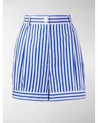Prada Poplin Bloomer Shorts - Blue