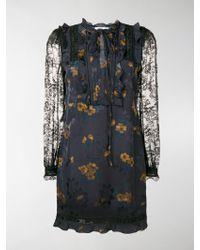 COACH - Lace Sleeve Dress - Lyst