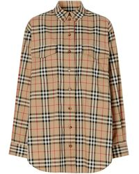 Burberry Oversized-Hemd mit Vintage-Check - Mehrfarbig