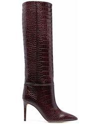 Paris Texas Cocco Stiletto-Stiefel 85mm - Rot
