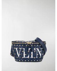 Valentino Garavani Valentino Garavani Rockstud Spike Belt Bag - Blue