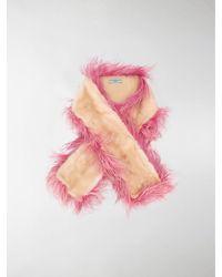 Prada Feather Detailed Scarf - Pink