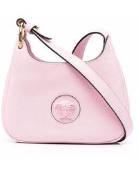 Versace Small La Medusa Hobo Bag - Pink