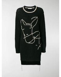 Jil Sander Embroidered Boyfriend Sweater - Black