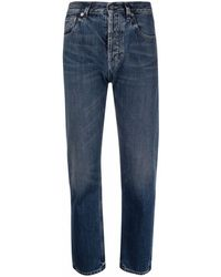 Saint Laurent High-waisted Cropped Jeans - Blue