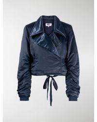 MM6 by Maison Martin Margiela Padded Cropped Jacket - Blue