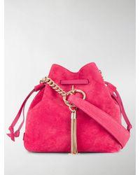 Jimmy Choo Small Callie Drawstring Bucket Bag - Pink