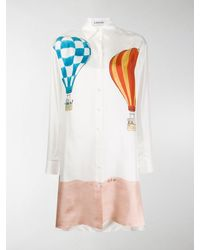 Lanvin - Hemdkleid mit Babar-Print - Lyst