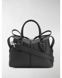Tod's Mittelgroße 'D Style' Handtasche - Schwarz