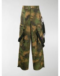 Off-White c/o Virgil Abloh Camouflage Loose Cargo Trousers - Green