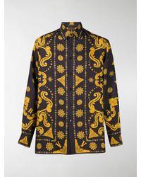 Versace Barocco Western Print Shirt - Black
