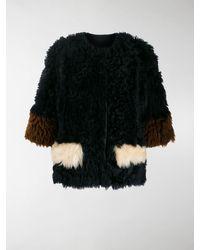 Marni Reversible Shearling Jacket - Blue