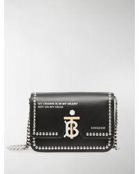 Burberry Small Tb Montage Bag - Black