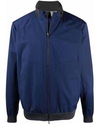 Sease Hooded Front Zip Jacket - Blue