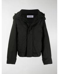 Balenciaga Nylon Parka Hooded Jacket - Black