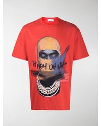 ih nom uh nit Face-print T-shirt - Red