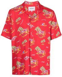 Carhartt WIP Klassisches Bowlinghemd - Rot