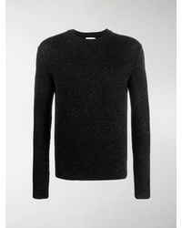 Saint Laurent Sequin-embroidered Ribbed Sweater - Black
