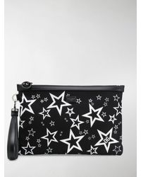 Dolce & Gabbana Star Print Pouch - Black
