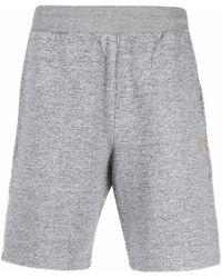 Golden Goose Shorts sportivi con stampa - Grigio