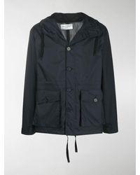 Officine Generale Drawstring Hooded Jacket - Blue