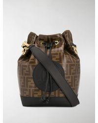 397577037810 Lyst - Fendi Mon Tresor Logo Transparent Bucket Bag - in Brown