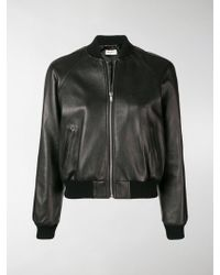 Saint Laurent - Bomber borchiato - Lyst
