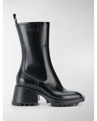 Chloé Betty 50mm Rain Boots - Black