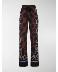 Diane von Furstenberg Nik Printed Pyjama Trousers - Black