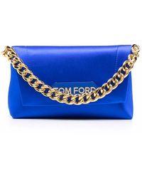 Tom Ford Handtasche aus Seide - Blau