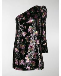 Self-Portrait 'Midnight Bloom' Kleid - Schwarz