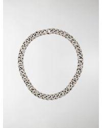 Balenciaga Logo Chain Necklace - Metallic