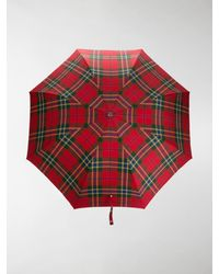 Alexander McQueen Patterned Umbrella With A Decorative Handle - Red