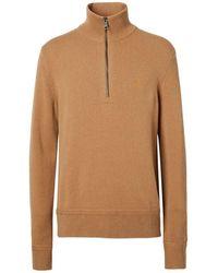 Burberry Pullover mit Reißverschluss - Braun