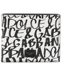 Dolce & Gabbana Portemonnaie mit Logo-Print - Weiß