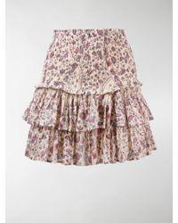 Étoile Isabel Marant Tiered Floral Print Skirt - Multicolour