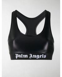 Palm Angels Sport-BH mit Logo-Print - Schwarz